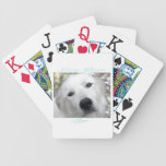 Love Your Pyr Great Pyrenees Teal Bicycle Card Decks