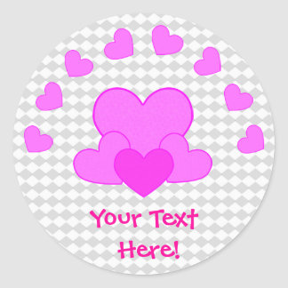 Love Your with Hearts Stickers - Customizable