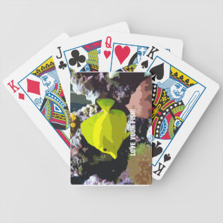 Love your yellow fish bicycle playing cards