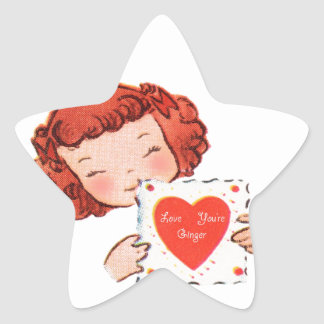 Love You're Ginger Star Sticker
