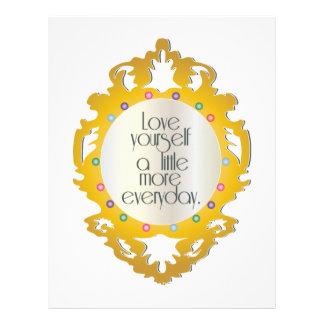 Love Yourself A Little More Everyday Custom Letterhead