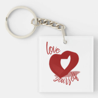 Love Yourself Double-Sided Keychain