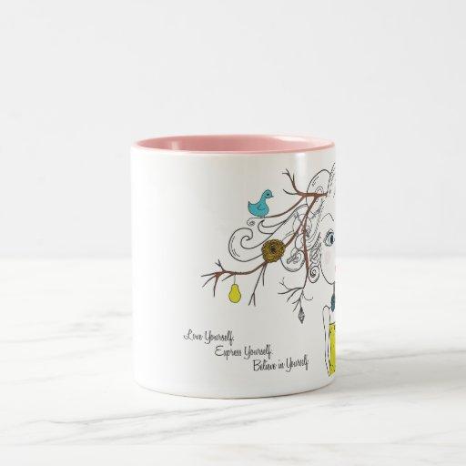 Love Yourself Express Yourself Believe in Yourself Two-Tone Coffee Mug