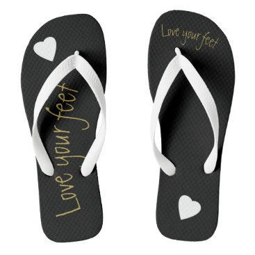 Beach Themed Love yourself flip flops