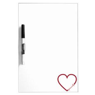 Love yourself heart minimalistic design dry erase board