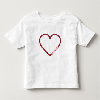 Love yourself heart minimalistic design girls toddler t-shirt
