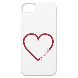 Love yourself heart minimalistic design iPhone SE/5/5s case