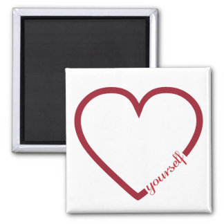 Love yourself heart minimalistic design magnet