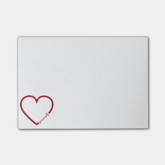 Love yourself heart minimalistic design post-it notes