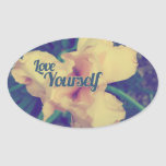 Love yourself iris sticker