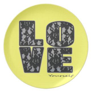 Love Youself Plate