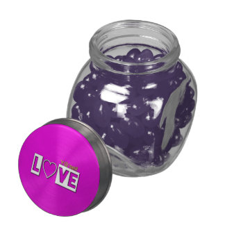 Love Yummy Jelly Belly Containers Glass Jar