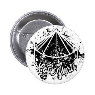 Love Yurts | Black Button