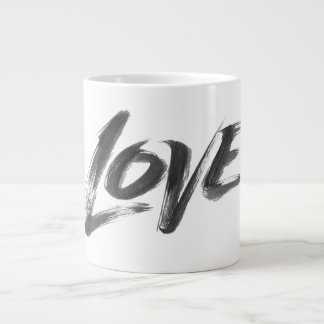 LOVE Zen Brush Valentine Calligraphy Lettering Large Coffee Mug