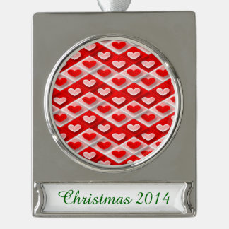 Love Zigs and Zags Silver Plated Banner Ornament
