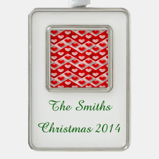 Love Zigs and Zags Silver Plated Framed Ornament