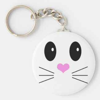 Loveable Face 1 Basic Round Button Keychain