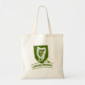 Loveable Irishman (Harp Grn) Tote Bag