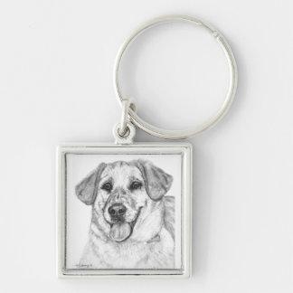 Loveable Labrador keychain