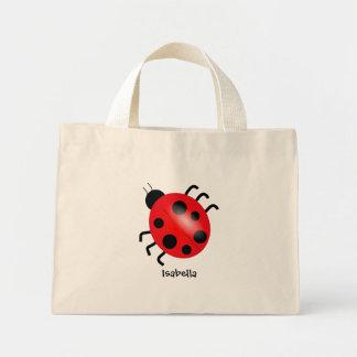 Loveable ladybug mini tote bag