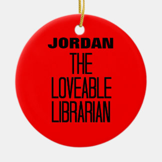 Loveable Librarian Double-Sided Ceramic Round Christmas Ornament