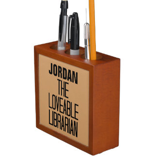 Loveable Librarian Pencil Holder