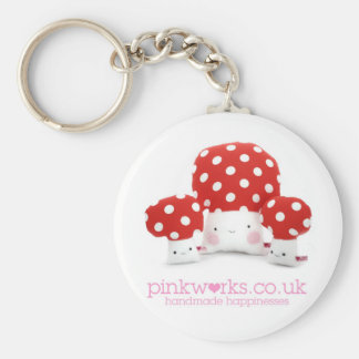Loveable Mushrooms Basic Round Button Keychain