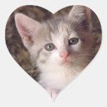 Lovealbe Kitty Heart Sticker