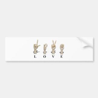 LoveAmeslan062511 Car Bumper Sticker