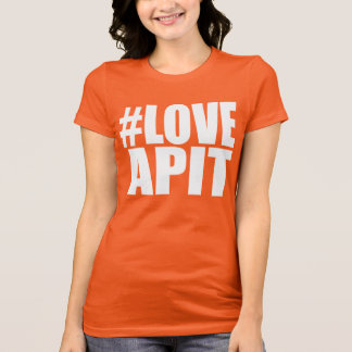 #LOVEAPIT Woman White Racer - OTHER COLORS AVAIL T-Shirt