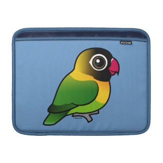 Lovebird Amarillo-agarrado Fundas MacBook