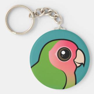 Lovebird Atractivo-hecho frente Llavero Redondo Tipo Pin