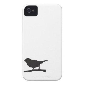 Lovebird blanco del negro de la rama del pájaro de Case-Mate iPhone 4 coberturas