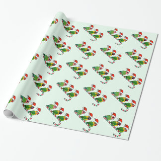 Lovebird Candy Cane Wrapping Paper
