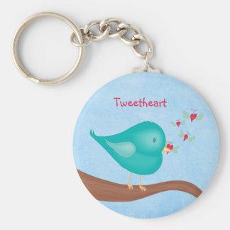 Lovebird catching a Lovebug Keychain