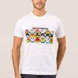 Lovebird colour mutations tee shirt