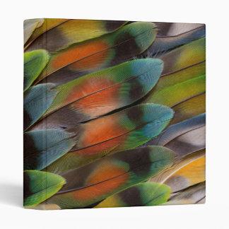 Lovebird Feather Pattern 3 Ring Binder