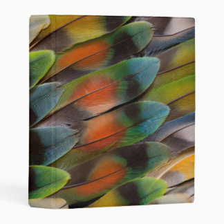 Lovebird Feather Pattern Mini Binder