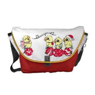 Lovebird lindo del canto bolsas de mensajeria