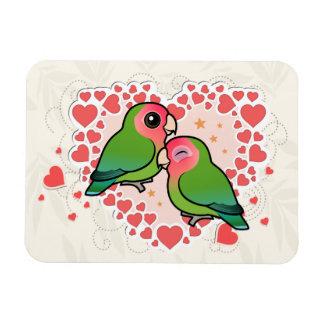 Lovebird Love Heart Magnet