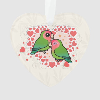 Lovebird Love Heart Ornament