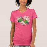Lovebird Love Heart T Shirt