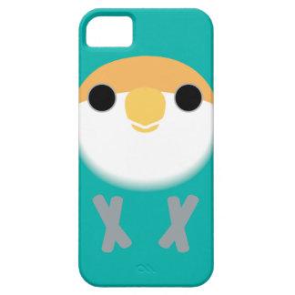 Lovebird Melocotón-hecho frente (azul holandés) iPhone 5 Carcasa
