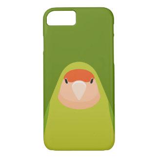 Lovebird Melocotón-hecho frente - caso del iPhone Funda iPhone 7