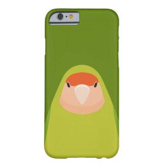 Lovebird Melocotón-hecho frente - caso del iPhone Funda Para iPhone 6 Barely There