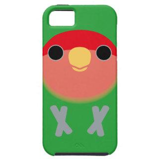 Lovebird Melocotón-hecho frente iPhone 5 Fundas