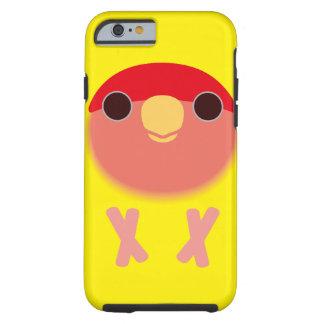 Lovebird Melocotón-hecho frente (Lutino) Funda De iPhone 6 Tough