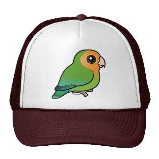 Lovebird Melocotón-hecho frente Naranja-hecho fren Gorros
