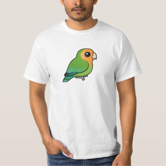 Lovebird Melocotón-hecho frente Naranja-hecho Playera