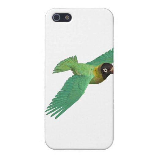 Lovebird negro de Cheeked iPhone 5 Funda